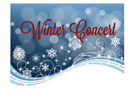 Winter Concert dates are December 12, and January 16
