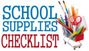2020-2021 School Supplies Checklists