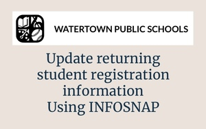 19-20 InfoSnap Returning Student Registration