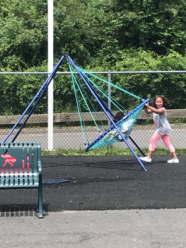 Playing on playground