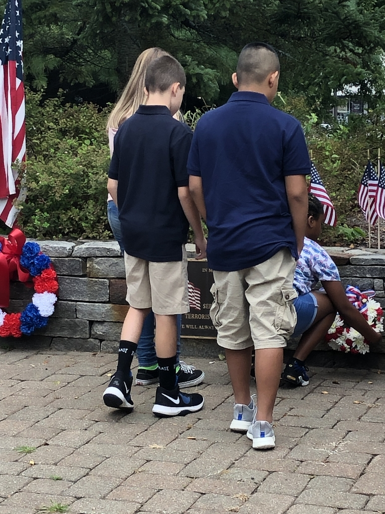 7th and 8th Graders participated in the annual wreath laying ceremony today, September 11th at the Watertown Plaza.