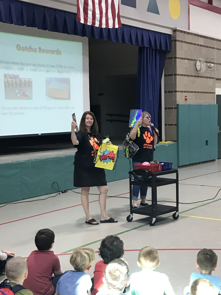 Teachers show prizes students can earn