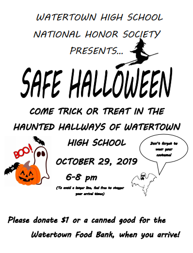 Safe Trick or Treating Event at WHS