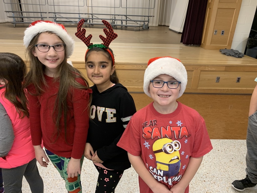 Students dressed for holidays