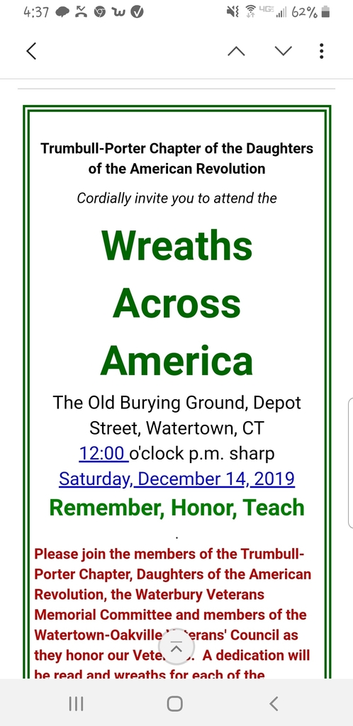 Wreaths Across America announcement
