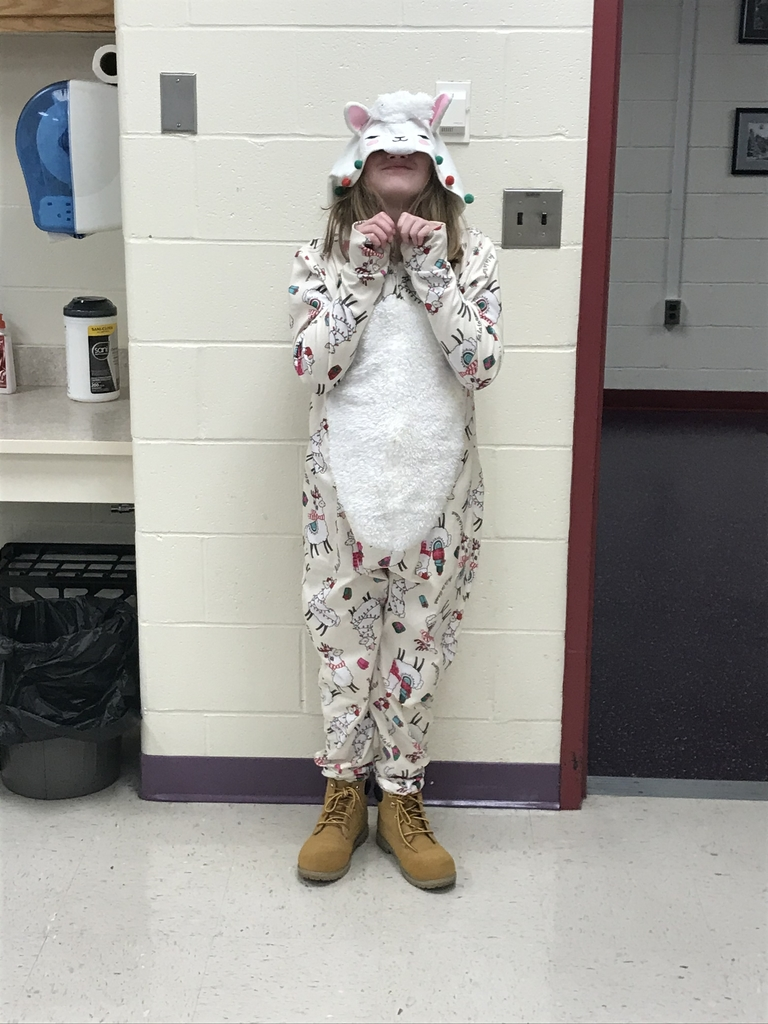 Student in pajamas