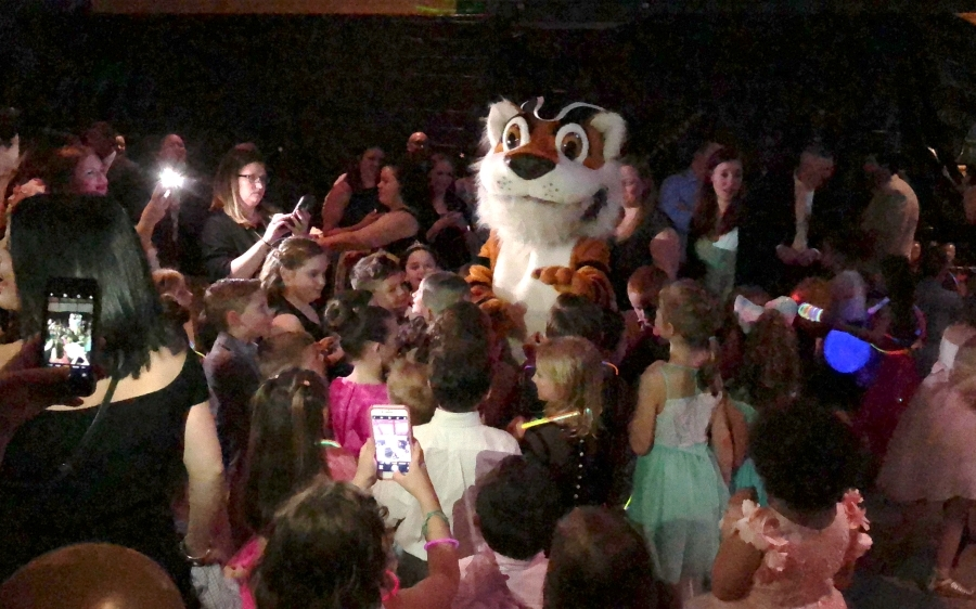 JT the tiger dancing the night away with kids